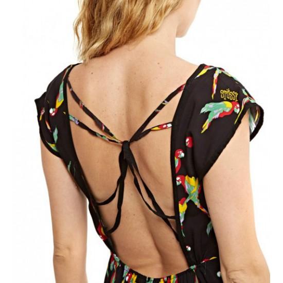 Macaw Twist Back Dress Black