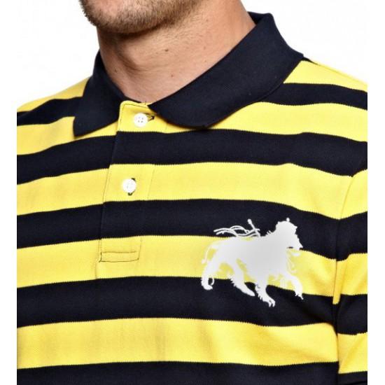 Lion Stripe Polo