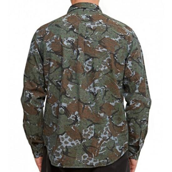 Cheetah Camo Shirt Navy
