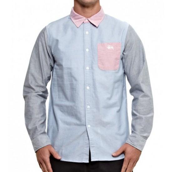 3 Tone Oxford Shirt Light Blue