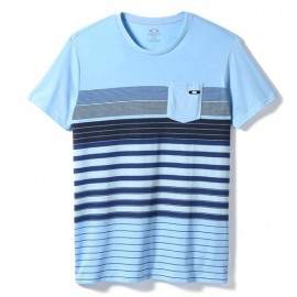 Pocket Stripe Tee Oxford Blue