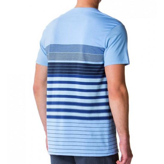 Pocket Stripe Tee Oxford Blue
