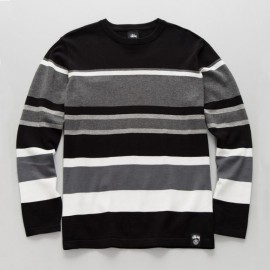 Frankie Stripe Sweater Black