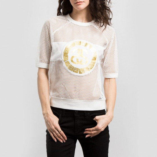 Mesh Sweatshirt White