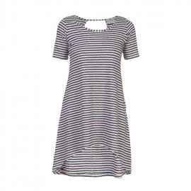 Nerea Striped Dress Ecru Blue