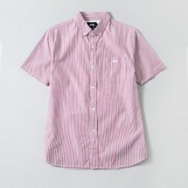Stripe Oxford Shirt Red