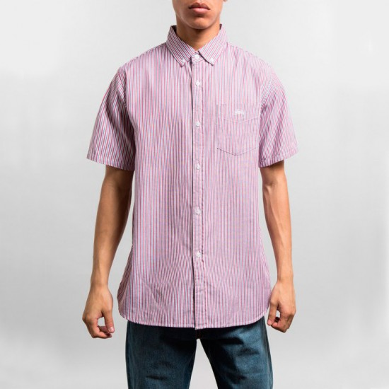 Stripe Oxford Shirt Red