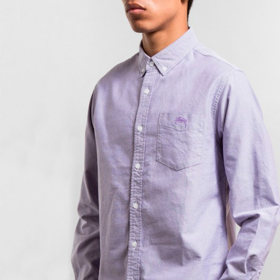 Bad Boy Oxford Shirt Purple