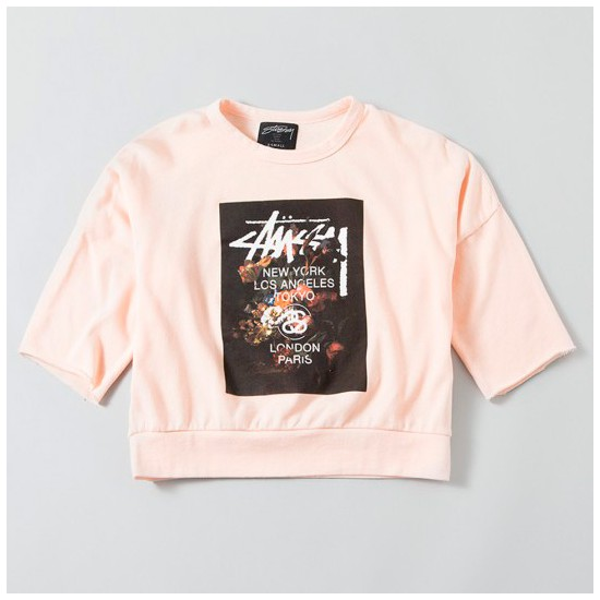 WT Floral Crew Pink