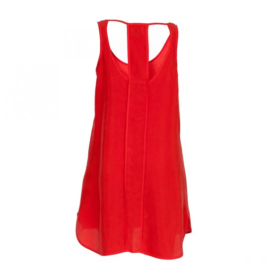 Donibane Dress Red