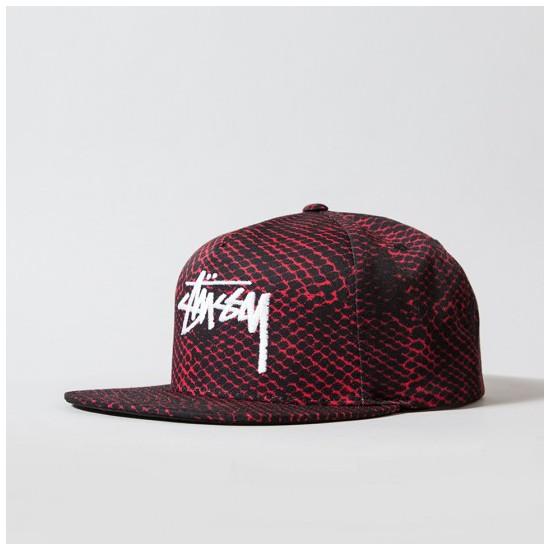 Snakeskin Cap Red