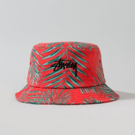 Palm Bucket Hat Red