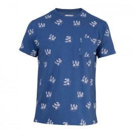 Camping T-Shirt Blue