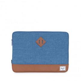 """Heritage Sleeve MacBook 15"""" Navy Crosshatch/Tan"""