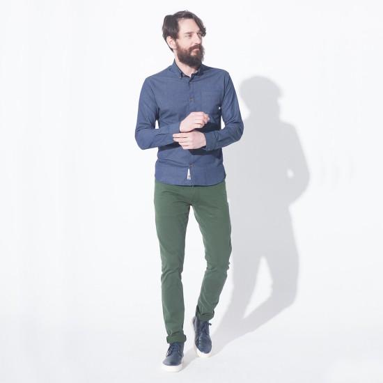 Broome Shirt L/S Dot Blue