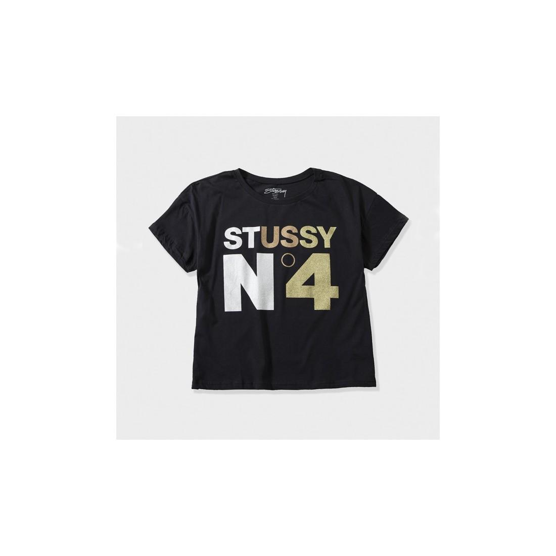 a510ebef58c Buy Stüssy women s tees Stüssy Metallic Nº4 Boxy tee black
