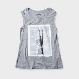 Peace Muscle Scoop Grey Heather