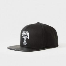 World Tour Snapback Cap Black