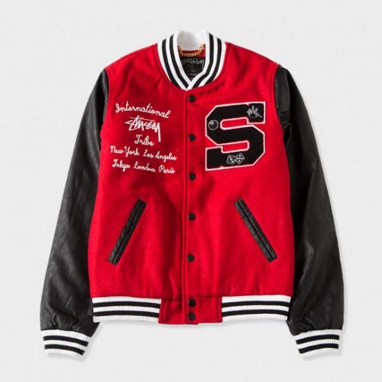 Lettermans Jacket Red