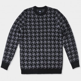 Houndstooth Sweater Black