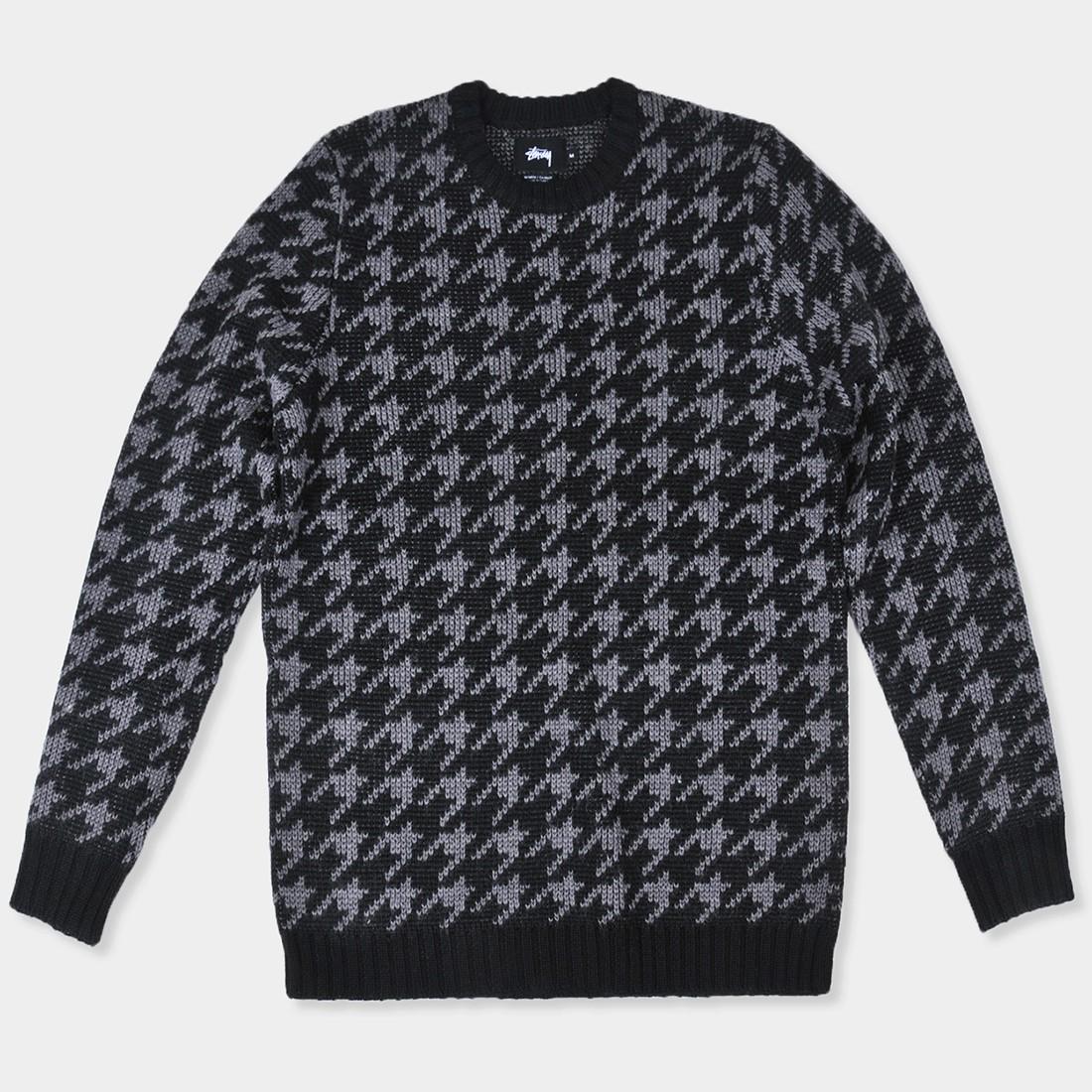 Buy Stussy Men S Sweaters Stussy Houndstooth Sweater Black