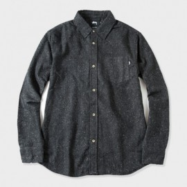 Speckle Flannel Shirt Black
