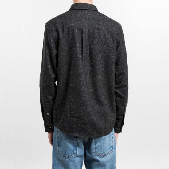 Speckle Flannel Shirt Black