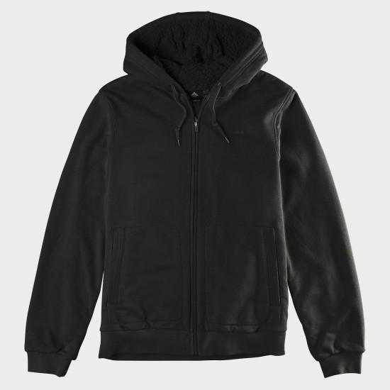 Woolee Zip Hood Black