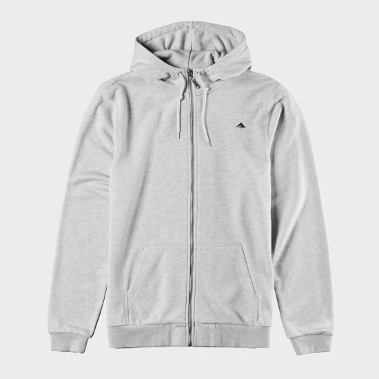 Triangle Zip Hood Grey