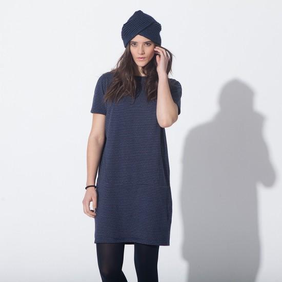 Hamaika Dress Navy Ecru
