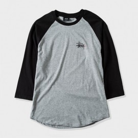 Basic Logo Raglan Grey Heather Black