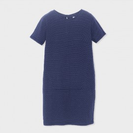 Hamaika Dress Navy Ecru