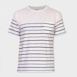 Basque T-Shirt Ecru Navy Blue