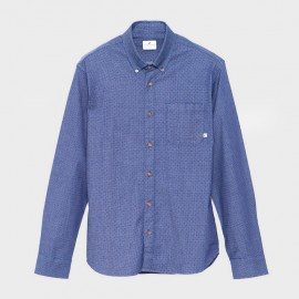 Broome Shirt L/S Dot Blue