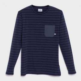 Kaia Stretch L/S T-Shirt Navy Blue
