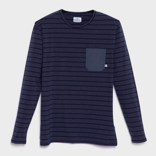 Kaia Stretch L/S T-Shirt Navy Blue