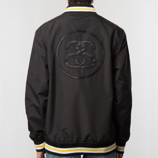 Logo Stadium Jacket Black