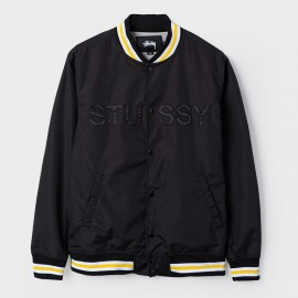 Logo Stadium Jacket Black