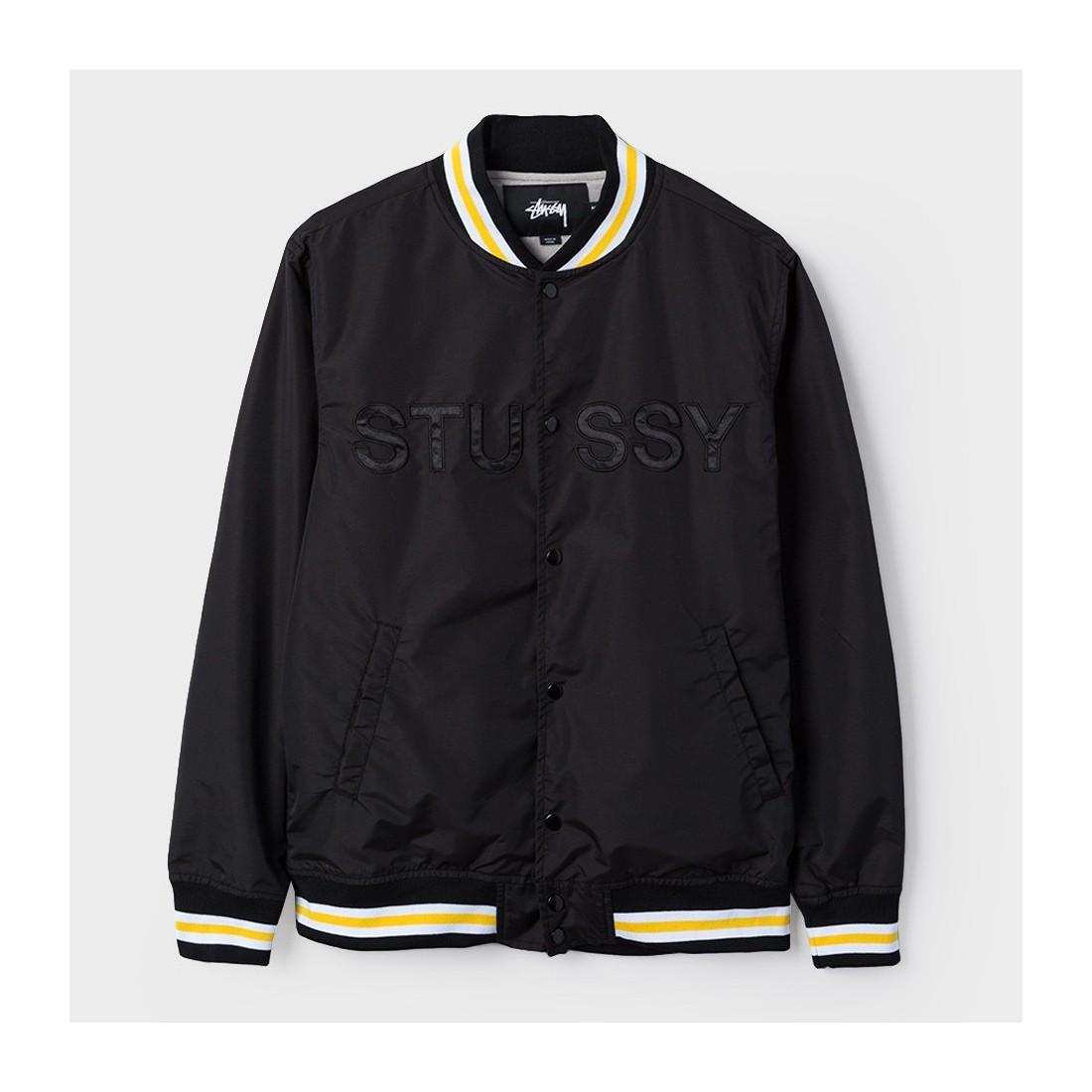 c436fd73c Men's jackets Stüssy Logo Stadium Jacket Black Shop online
