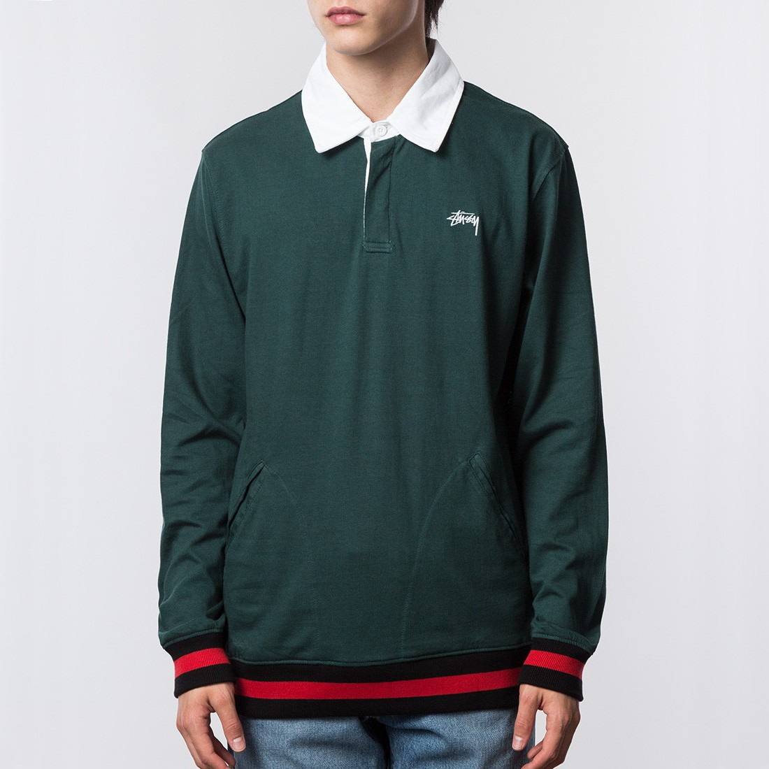 Online Men S Clothing Polos St 252 Ssy Pocket Rugby Green