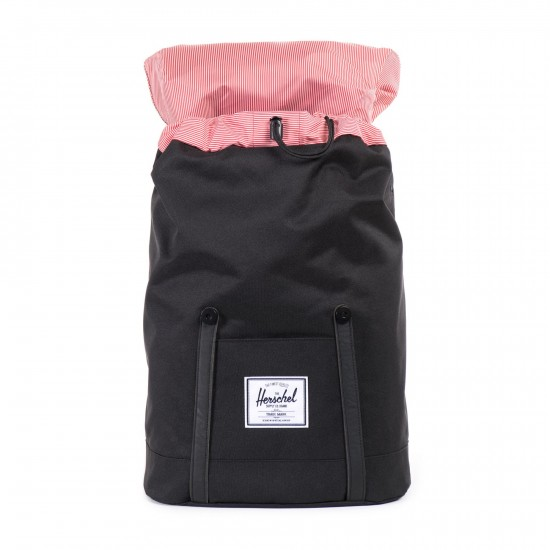 Retreat Backpack Black Black Synthetic Leather