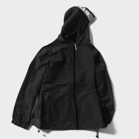 Light Nylon Full Zip Black