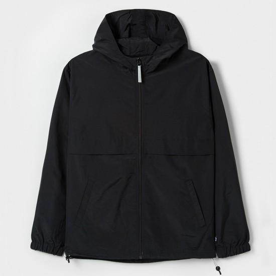 Light Nylon Full Zip Black