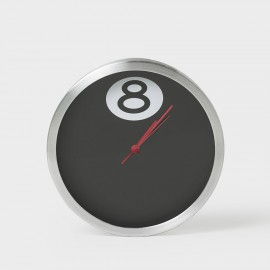 8 Ball Clock Black