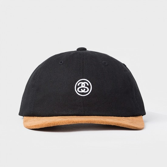 Mini SS Suede Visor Cap Black