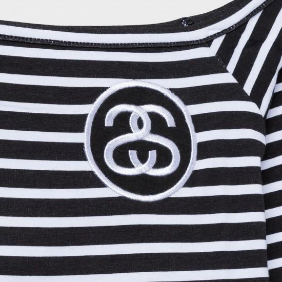 SS Stripe Crop top Black