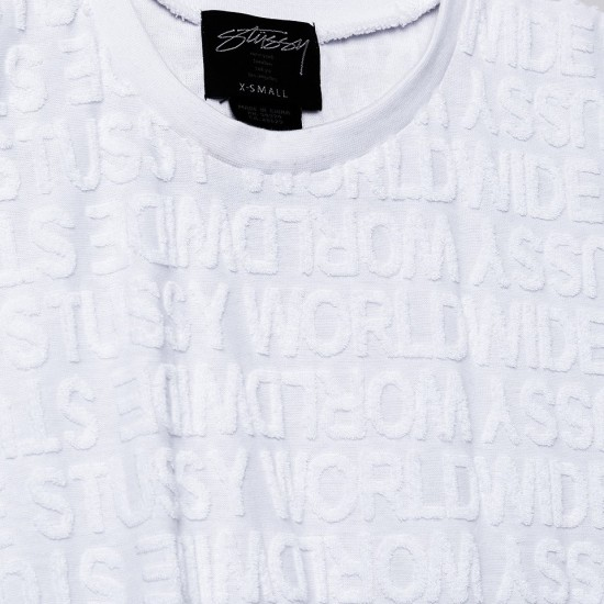 Stussy Terry Muscle Tie White