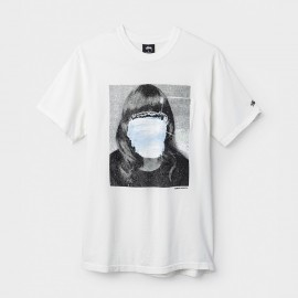 Tomoo Girl Pocket Tee White
