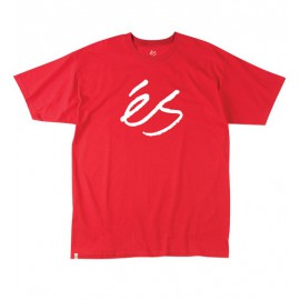 Script Solid Tee Red
