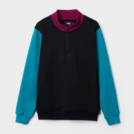Half Zip Mock Neck Black